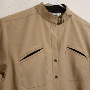 Vintage | Tan & Black Shirtdress